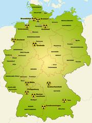 Deutschland Standorte Atomkraftwerke
