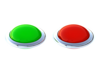 green and red buttons with edge silver