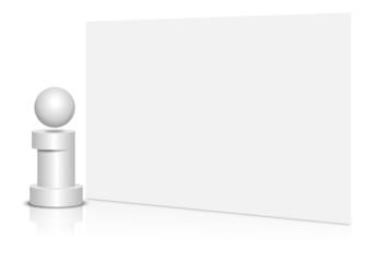 information, karte, blank