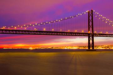 The 25 de Abril Bridge in Lisbon
