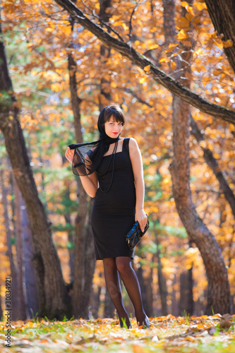 girl in the oak grove
