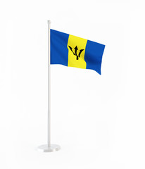 3D flag of Barbados