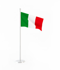 3D flag of Italy