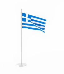 3D flag of Greece