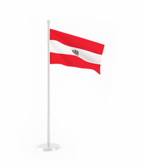 3D flag of Austria