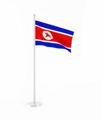 3D flag of North Korea