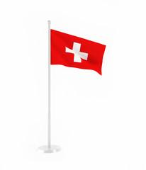 3D flag of Switzerland