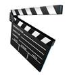 Black film director clapper board movies symbol angled