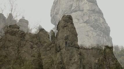 Kletterer in der Wachau