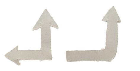 Cardboard navigation arrows