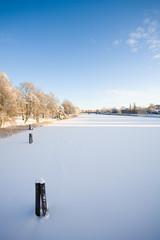 River Klarälven at winter