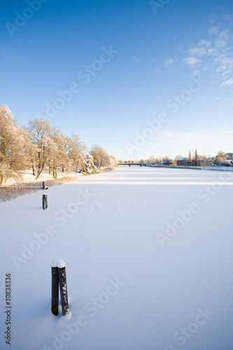 River Klarälven at winter
