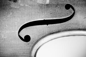 Close-up on violin