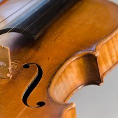 Close-up on old violin
