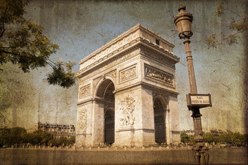 Arc de Triomple, style photo ancienne