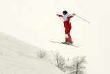 skier flip in the air