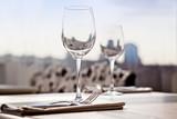 Fine restaurant dinner table place setting