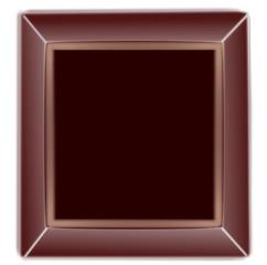 Button blank choccolate