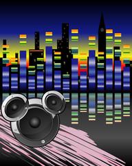 Night music city