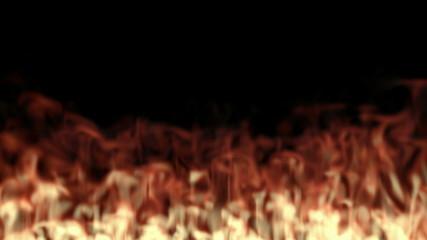 Fiery background - realistic fire