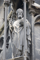 St. Stephen Church in Vienna - statue of a saint