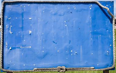 Blue information board