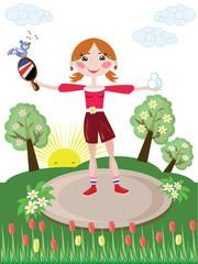 Activ girl,tennis