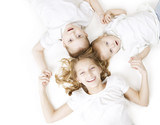 Happy Family. Kids over white background