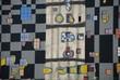 Hundertwasser district heating plant tower in Vienna, detail
