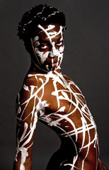 Artistic image of an African American model.