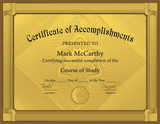Certificate of Accomplishment Template poster