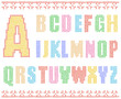 Sewing alphabet