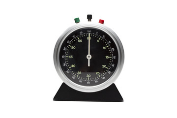 Analog timer counter isolated on white