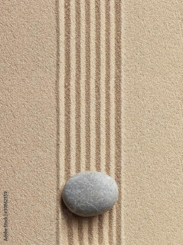 Zen stone in the sand © Irochka