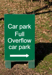 overflow car park sign
