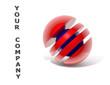 Logo rot blau