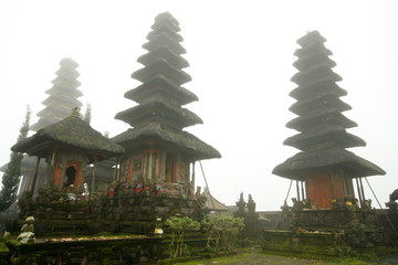 pagoda in ULUNDANU BATUR Temple in a misty day