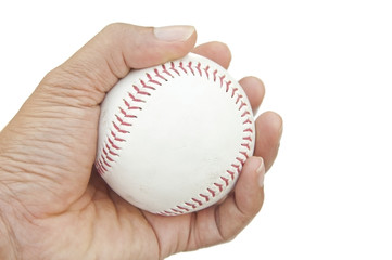 base ball on hand