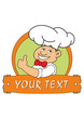 vector illustration of funny chef with place for text
