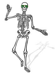 Skelett mit Sonnenbrille