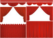 Elements of theatrical curtains isolated with clipping path.