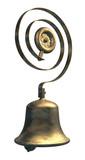 An antique brass servants or tradesmans call bell poster