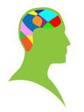 Human brain poster
