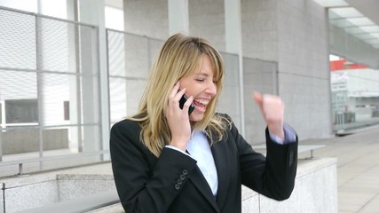 Successful businesswoman talking on the phone