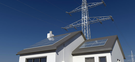 Solar electricity grid connection