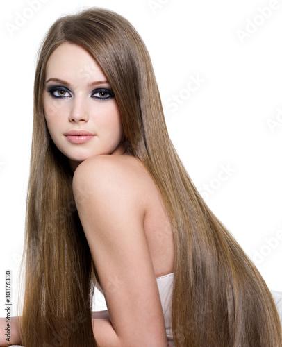 Sexy girl with beautiful long hair