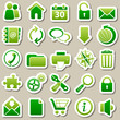 web Green Stickers