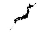 日本地図(モノクロ)