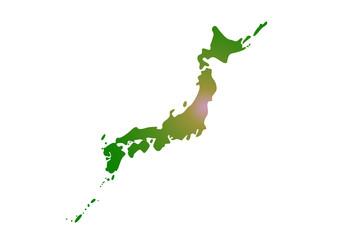 日本地図(震源)