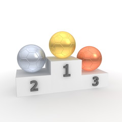 Victory Podium - Classic Balls - Gold, Silver, Bronze